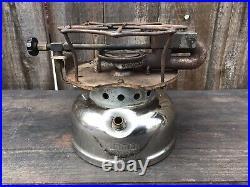 Vintage 1947 Coleman Single Burner Nickle Stove Model 500 B-47 Parts Repair