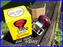 Vintage 1950s original Santay auto accessory Spinner steering wheel part old gm