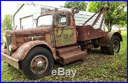 Vintage 1955 White Model 22WC Tow Truck Parts or Restore