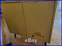Vintage 1956 VM Triomatic Tube Record Player Cabinet Model 565A WithManual & Parts