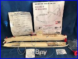 Vintage 1960 ITC Model Craft Halibut Submarine Model Kit Ideal for Parts +