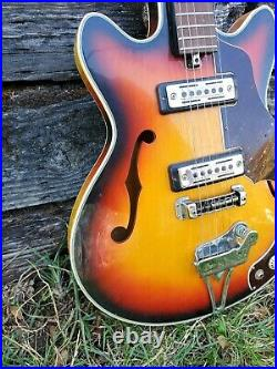 Vintage 1960s Silvertone Electric Guitar Model 319 14459 Japanese (Parts Repair)