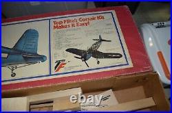 Vintage! 1978 Top Flite F4U-1A Corsair R/C Model Airplane Box with Parts READ