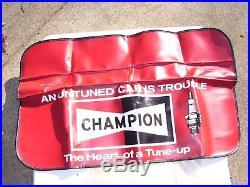 Vintage 60s original nos CHAMPION sparkplugs tune-up promo fender auto gm chevy