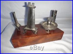 Vintage Aviation Award Trophy Engine Parts Mechanic Pilot Miniature Model Plane