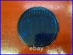 Vintage Blue Glass Stop Tail Light Lens Bomb Gasser Scta Rat Rod Accessory