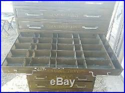 Vintage CARTER CARBURETOR Auto Parts Cabinet 3 Tier Floor Model