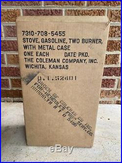 Vintage Coleman US MD stove Model 523 with Original Case and Parts NEW, Open Box