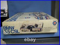 Vintage Entex BMW 3.5 CSL, 1/16 Scale Model Car Kit, Sealed Parts Bags