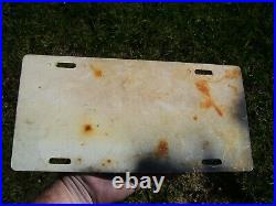 Vintage GM Chevy Body by Fisher accessory license plate promo original Camaro oe