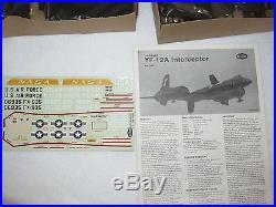 Vintage Model Kit Lockheed YF-12A INTERCEPTOR1/48 TestorsOB New Sealed Parts