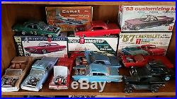 Vintage Model Kits and Junkyard Parts Lot Decals Instructions Boxes Chrome