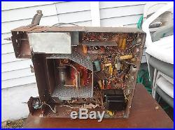 Vintage Motorola Tube TV Chassis Model TS-119D TS-119 WITH TUBES FOR PARTS