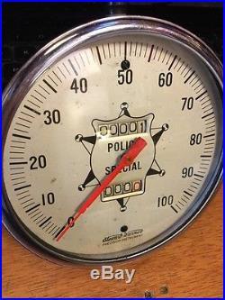 Vintage Police Special Speedometer 100 Mph Dash Instrument 5 Nos Scta Harley