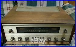 Vintage THE FISHER Model 500-C Tube Amplifier Tuner with case Parts or repair