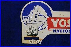 Vintage Yosemite National Park License Plate Topper Trunk Bumper Badge Emblem