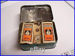 Vintage nos Genuine Ford Parts Emergency Kit can bulb fuse tin fomoco lamp auto