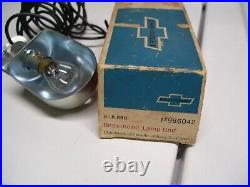 Vintage original 1960s GM Chevy Underhood Lamp nos Corvair Chevelle Hobbs light