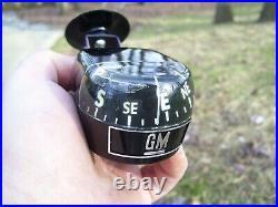 Vintage original Chevy gm Compass auto accessory gauge dial Guide nova chevelle