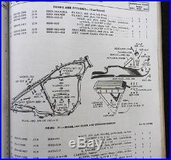 Wwii 1941 1942 1943 1944 Harley Davidson Model Wla Solo Motorcycle Parts Catalog