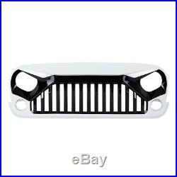 White/Black Paint Gladiator Front Grill Grille For Jeep Wrangler 07-18 JK Models