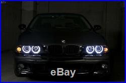 White LED Angel HID Headlights + Auto-Level For 97-00 BMW E39 Stock Xenon Model