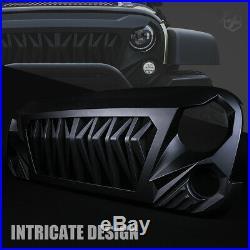 Xprite Black Angry Snake Venom ABS Bumper Grille for 2007-2018 Jeep Wrangler JK