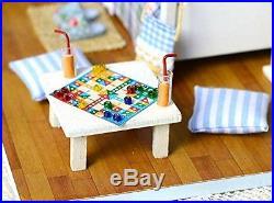 Youku Wooden Dollhouse Miniature DIY Kit- Bedroom Model & Furniture/Parts 124