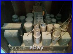 Zenith Model 835 Chrome Front Tombstone Radio 1934 1935 antique parts rare 1930s